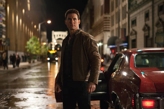"FILE - This publicity film image released by Paramount Pictures shows Tom Cruise in a scene from ""Jack Reacher."" Cruise plays a former military cop investigating a sniper case. Just turned 50, and just out with his latest action flick, �Jack Reacher,� Cruise remains one of the biggest stars in Hollywood. (AP Photo/Paramount Pictures, Karen Ballard, File)"