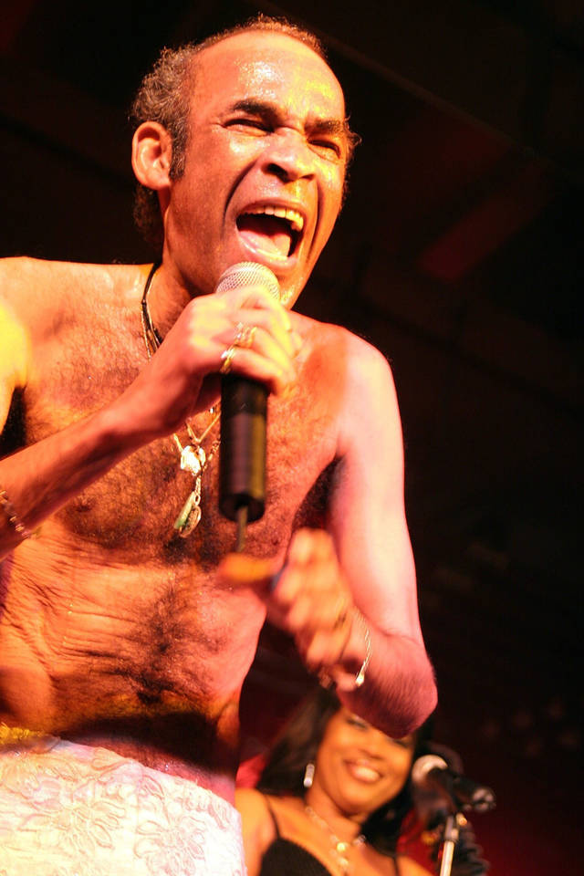 Bobby Farrell of the group Boney M is shown in this May 14, 2005, file photo as they performed in a hall at Kloten Airport in Zurich, Switzerland. Farrell was found dead in his hotel bed Dec. 30 while on tour in Russia, (AP File Photo)