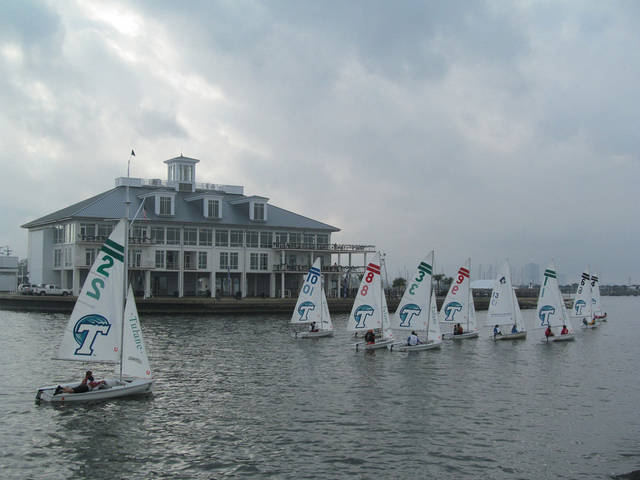 The University of Central Oklahoma sailing team, seen here competing in the 2011 Allstate Sugar Bowl Regatta on Lake Pontchartrain in New Orleans, has been invited back to compete this year in the prestigious regatta, hosted by Tulane University on Sunday and Monday. Photo provided