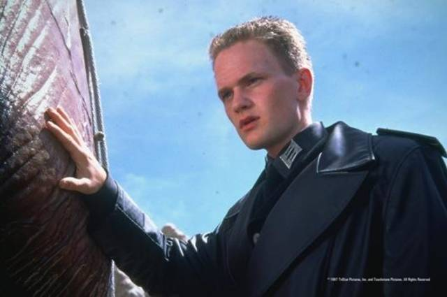 "Neil Patrick Harris appears in the 1997 sci-fi action movie ""Starship Troopers,"" which will given wisecracking commentary during Thursday's live theater event ""Rifftrax Live: Starship Troopers."""