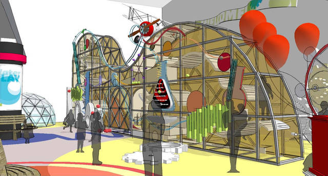 Plans for a children&#039;s hall at Science Museum Oklahoma include a climbing structure. Image provided