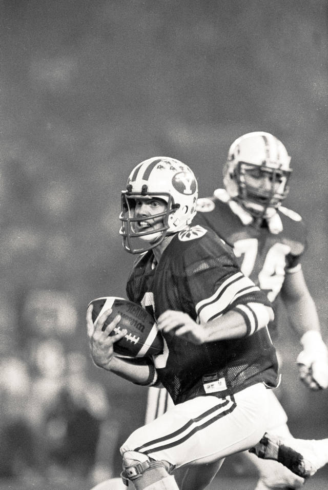 Jim McMahon attended BYU and played quarterback for the Cougars. AP Archive Photo