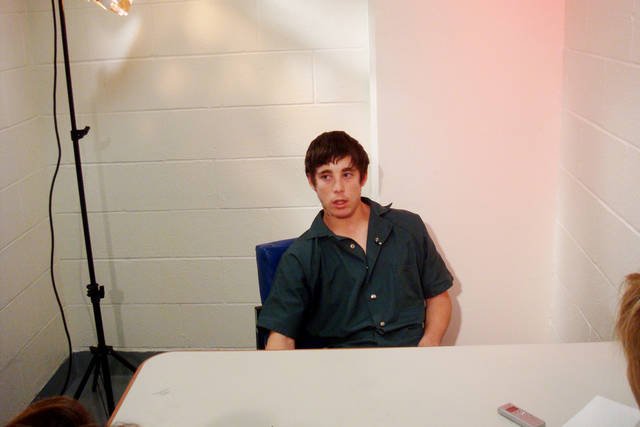 Matthew Fox, 17, was interviewed in jail in Texas on Thursday. He's jailed in the death of Leroy Herrera. PHOTO BY Kerri Moon, for The Oklahoman