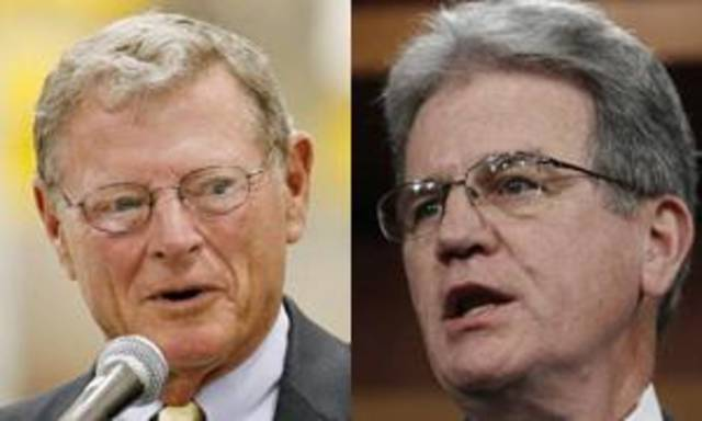 Sens. Jim Inhofe, R-Tulsa, and Tom Coburn, R-Muskogee. File photos.