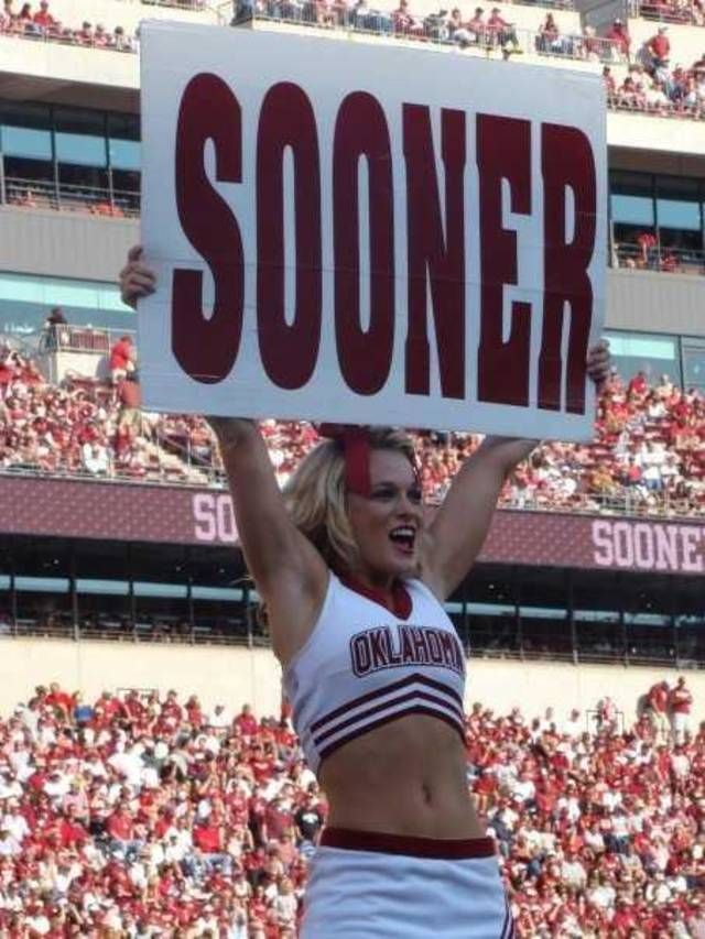 University of Oklahoma cheerleader Jena Stewart