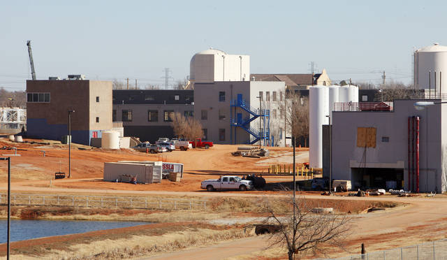 The Oklahoma City water treatment plant north of the Hefner Lake dam in Oklahoma City Thursday, Jan. 17, 2013.  Photo by Paul B. Southerland, The Oklahoman