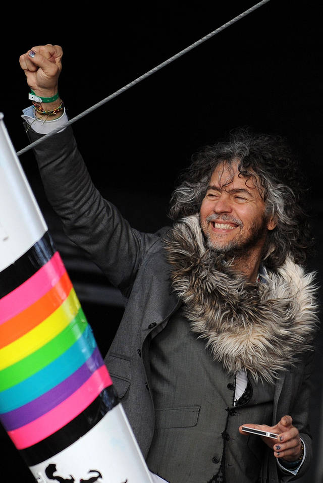 The lead singer and guitarist of American band The Flaming Lips, Wayne Michael Coyne, reacts  backstage June 8 during the performance of American rock band Yo La Tengo, not seen, during the Optimus Primavera Sound music festival in Porto, Portugal. AP Photo &lt;strong&gt;Paulo Duarte&lt;/strong&gt;