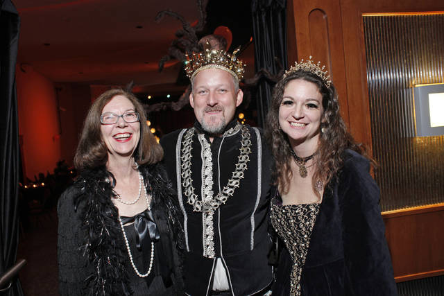 from left: Mary Ellen Meredith, Dennis Byford and Samonia Meredith  during the Halloween costume party at Will Rogers Theater, Friday, Oct. 29, 2010. Photo by Doug Hoke, The Oklahoman