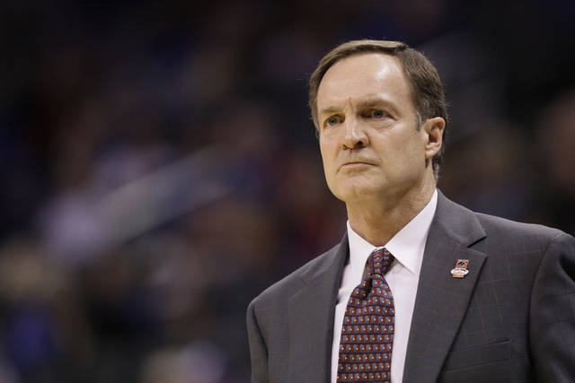 UNIVERSITY OF NEVADA, LAS VEGAS: UNLV head basketball coach Lon Kruger watches on the sidelines during the first half of an NCAA college basketball game against Northern Iowa, Thursday, March 18, 2010, in Oklahoma City. (AP Photo/Tony Gutierrez) ORG XMIT: NYOTK