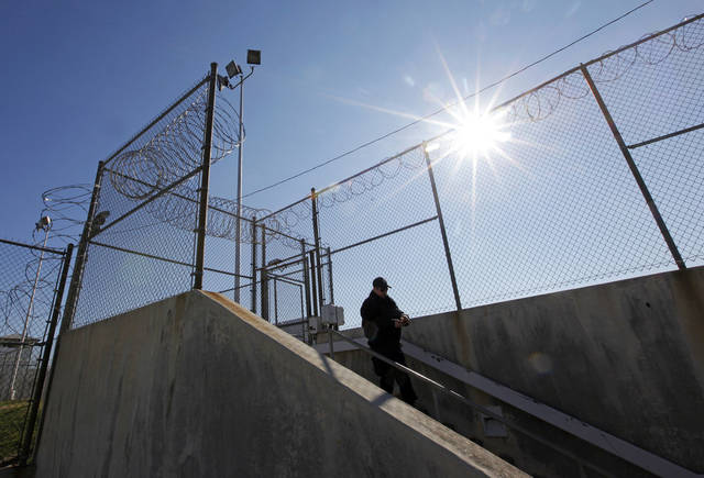 A view of the entrance to Area 3 at the Oklahoma State Penitentiary in McAlester, Okla., Wednesday, Dec. 7, 2011. Photo by Nate Billings, The Oklahoman
