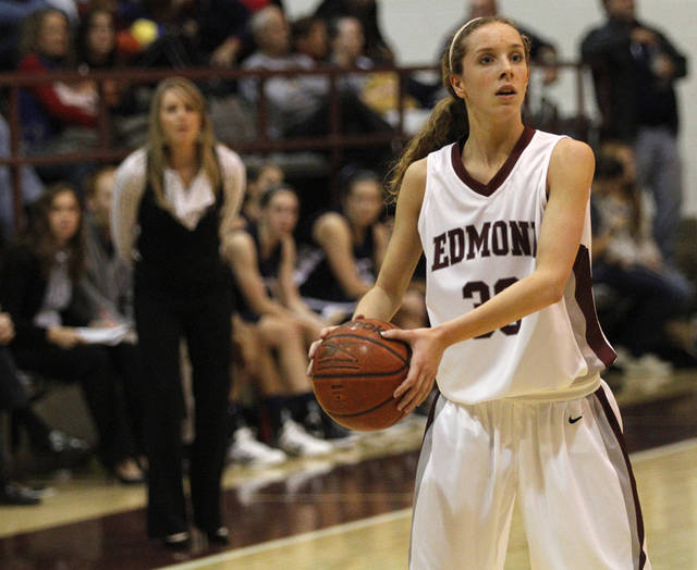 Edmond Memorial&#039;s Jenny Roy (30) during a girls high school basketball game between Edmond Memorial and Edmond North at Edmond Memorial High School, Tuesday, Dec. 20, 2011.  Photo by Garett Fisbeck, The Oklahoman ORG XMIT: KOD