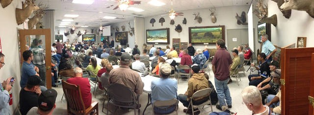 More than 100 people attended an informational session at H&H Shooting Sports Complex about the open carry law. <strong> - H&H Shooting Sports staff</strong>