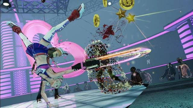 "This video game image released by Warner Bros. shows a high school cheerleader zombie slayer in ""Lollipop Chainsaw."" (AP Photo/Warner Bros.)"