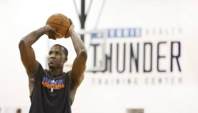 Since joinung the Thunder, center Kendrick Perkins is 12 of 25 from the foul line.