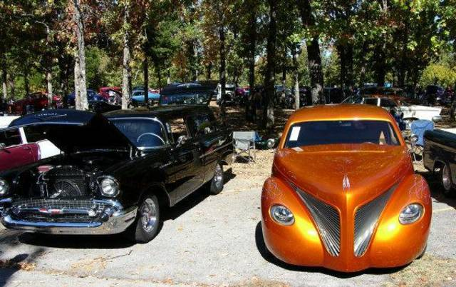 Beautifully restored classic cars are on display at the Robbers Cave Fall Festival. PHOTO PROVIDED. <strong></strong>