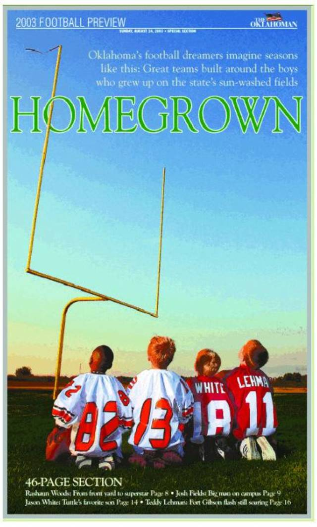 "2003 college football preview cover: ""Homegrown"""