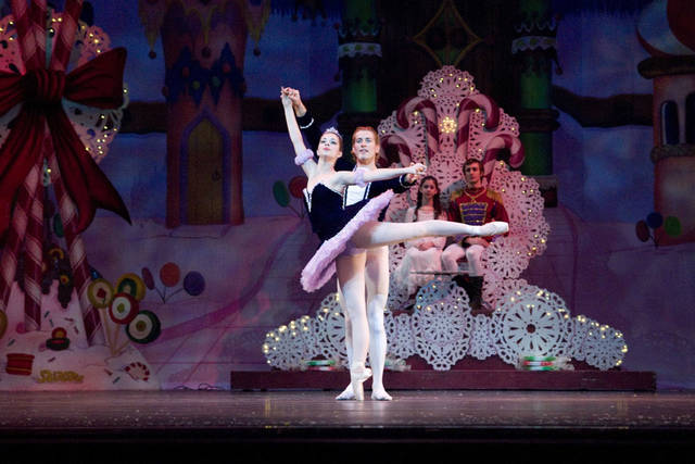 "Grace Medaugh and Ronnie Underwood as the Sugar Plum Fairy and her Cavalier in the Oklahoma City Ballet production of ""The Nutcracker."" Photo provided"
