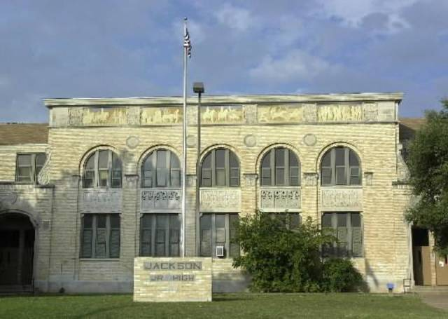2001 file photo - Oklahoma City Middle Schools. Jackson School building, 2601 S Villa, which will be accepting students from Westwood and Columbus Elementary Schools scheduled for closure next year. Staff photo by Paul B. Southerland