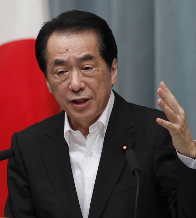 Japanese Prime Minister Naoto Kan speaks during a press conference at his official residence in Tokyo, Wednesday, July 13, 2011. Kan said he wants the country to learn from its ongoing crisis and become less reliant on nuclear energy. He said the risk of nuclear energy is too high and he wants to wean the nation off nuclear and eventually seek a society that can do without it. (AP Photo/Shizuo Kambayashi)
