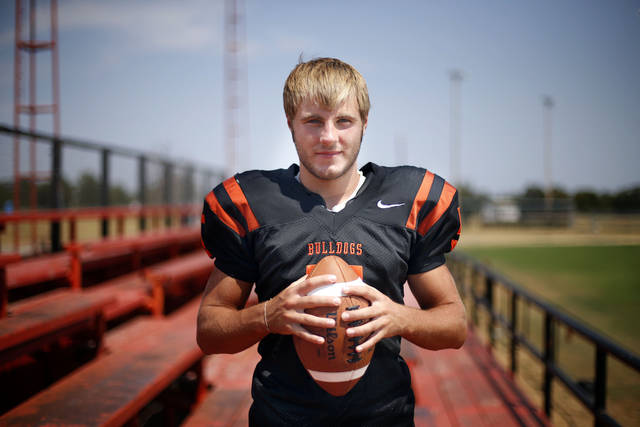 HIGH SCHOOL FOOTBALL: Matt Miller poses for a photo at Davenport High School in Davenport, Okla., Friday, Aug. 10, 2012. Photo by Sarah Phipps, The Oklahoman