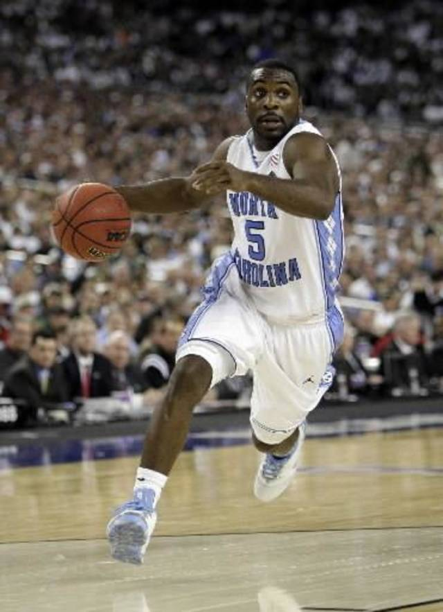 In this April 6, 2009, file photo, North Carolina's  Ty  Lawson drives to the hoop during the championship game against Michigan State at the men's NCAA Final Four college basketball tournament in Detroit.  Lawson is a top prospect in the upcoming NBA Draft. (AP Photo/Paul Sancya, File)