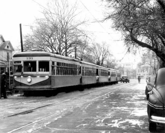 The Oklahoma City streetcar, 1946,