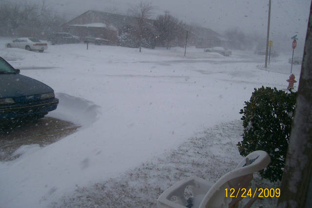 Out the front door of our home.  Submitted by Stephanie Lunsford.