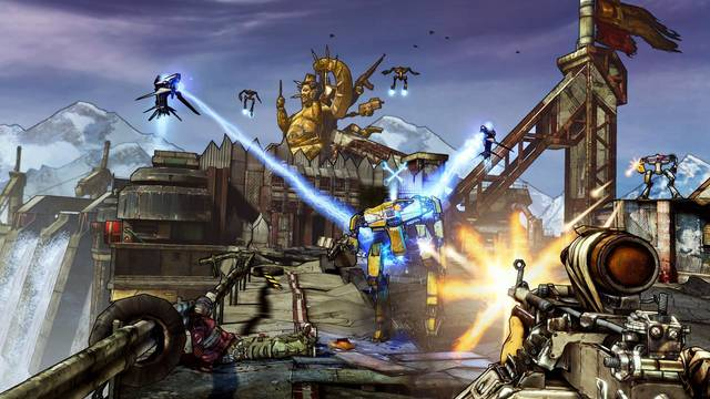 "This video game image released by 2K Games shows a scene from ""Borderlands 2."" (AP Photo/2K Games)"