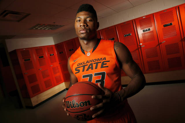 COLLEGE BASKETBALL: OSU's Marcus Smart (33) poses for a photo during basketball media day for Oklahoma State University at Gallagher-Iba Arena in Stillwater, Okla., Monday, Oct. 22, 2012. Photo by Nate Billings, The Oklahoman