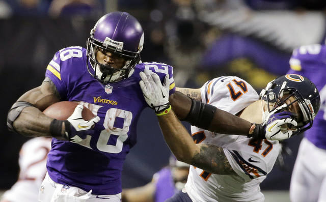 Adrian Peterson playing in Texas someday? The thought has crossed his mind. (AP Photo/Ann Heisenfelt)