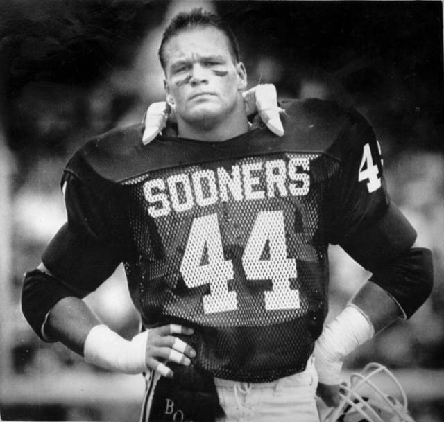 In this photo from 1985, former Sooner Brian Bosworth is shown during the Sooners game vs. Southern Methodist. OKLAHOMAN ARCHIVE PHOTO