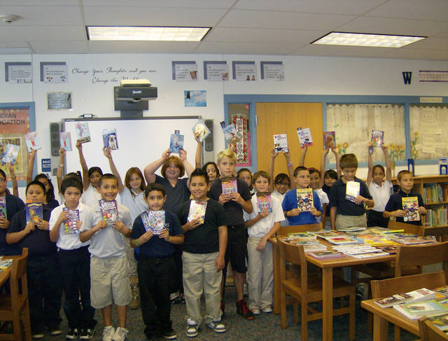 Class shows books. (Photo provided)