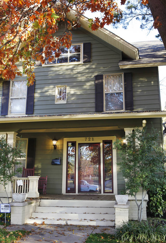 Exterior front of 721 NW 19 Street, Nathaniel and Amanda Harding residence, in Oklahoma City Wednesday, Nov. 16, 2011. Photo by Paul B. Southerland, The Oklahoman