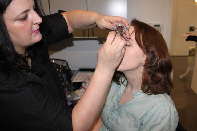 Makeup artist Sharon Tabb created a soft, romantic makeup look for Angela Schnabel&#039;s Mood &quot;Give Me Liberte&quot; makeover. Photo provided. &lt;strong&gt;&lt;/strong&gt;