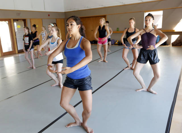 Madaya Eakins of Oklahoma City participaes in modern dance class during the Oklahoma Summer Arts Institute at Quartz Mountain Arts and Conference Center near Lone Wolf on Monday, June 17, 2013. PHOTO BY SARAH PHIPPS, The Oklahoman <strong>SARAH PHIPPS</strong>