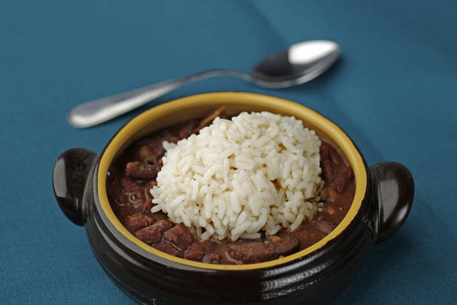 Cajun red beans and rice by New Orleans-native Celie Rabalais. <strong>DOUG HOKE - THE OKLAHOMAN</strong>