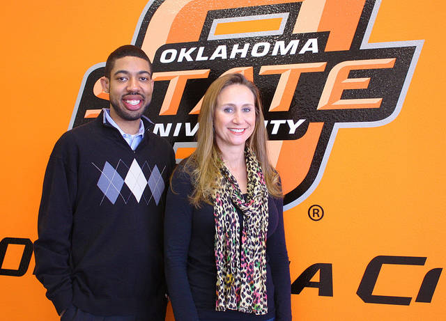 OSU-OKC academic adviser Kenneth Chapman and student Heather McElwain. PHOTO provided