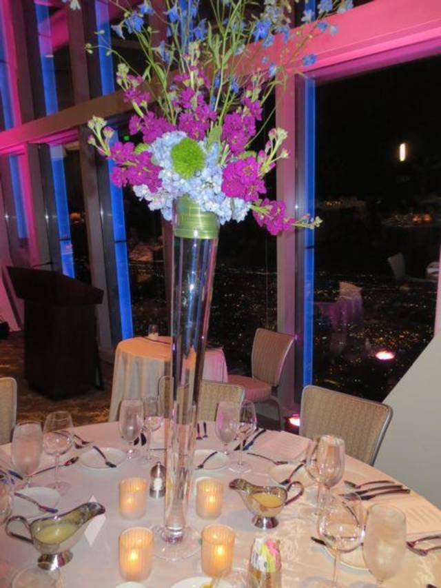 Beautiful flowers decorated tables at the Once Upon A Dream 19 , University of Oklahoma School of Dance, Dinner and Auction. (Photo by Helen Ford Wallace).