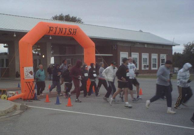 Participants get under way Saturday in the fifth annual Patriot Run at the McAlester Army Ammunition Plant. Photos by John Yates, For The Oklahoman