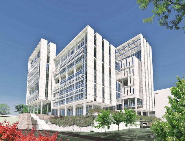 An artist's drawing shows a building planned by Oklahoma Medical Research  Center. Rendering provided