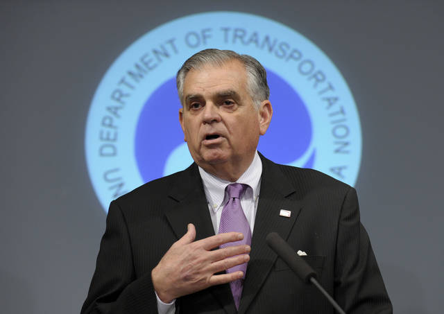 In this Jan. 11, 2013 photo, Transportation Secretary Raymond LaHood speaks during a news conference at the Transportation Department in Washington, discussing a comprehensive review of Boeing 787 critical systems, including the design, manufacture and assembly. LaHood, the only Republican member of President Barack Obama's first-term Cabinet, says he plans to leave the Obama administration.  (AP Photo/Susan Walsh)