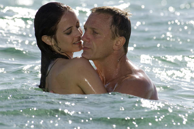 "FILE - In this publicity file photo provided by Sony Pictures, Daniel Craig, right, appears with Eva Green in the 2006 James Bond film, ""Casino Royale."" Whatever their role, Bond girls still must be inarguably beautiful. (AP Photo/Sony Pictures/Jay Maidment, File)"
