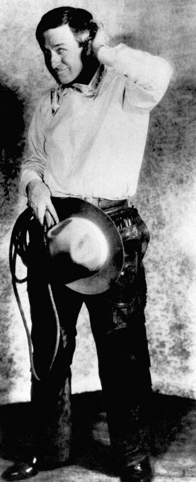 Cowboy humorist Will Rogers poses in this undated photo. (AP Photo)