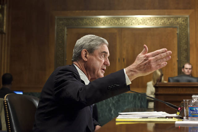 "FBI Director Robert Mueller testifies on Capitol Hill in Washington, Wednesday, May 16, 2012, before the Senate Judiciary Committee hearing: ""Oversight of the Federal Bureau of Investigation."" (AP Photo/J. Scott Applewhite)"