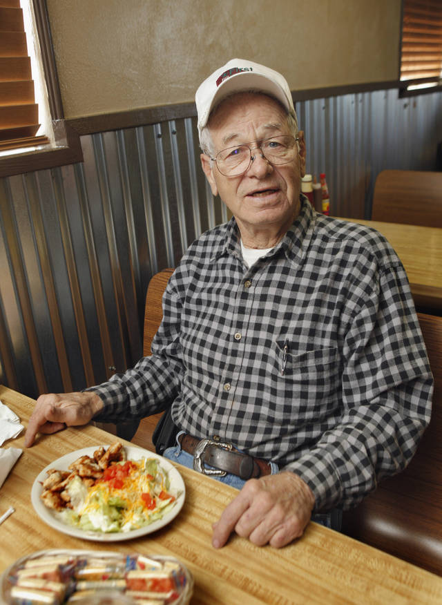 Blanchard resident Robert C. Miller at Dakota's Cafe on Wednesday, Jan. 11, 2012, in Blanchard, Okla.   Photo by Steve Sisney, The Oklahoman