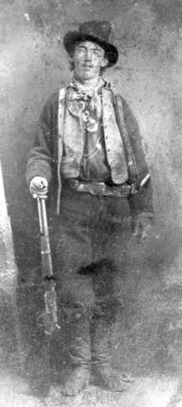 This undated file ferrotype picture provided by the Lincoln County, N.M., Heritage Trust Archive is believed to depict William Bonney, also known as Billy the Kid, circa 1880. Billy the Kid, the Old West outlaw who killed at least three lawmen and tried to cut a deal from jail with territorial authorities, won't be pardoned, Gov. Bill Richardson said Friday, Dec. 31, 2010, nearly 130 years after the gunslinger's death. The prospect of a pardon for the notorious frontier figure drew international attention to New Mexico, centering on whether Billy the Kid had been promised a pardon from New Mexico's territorial governor in return for testimony in killings he had witnessed. (AP Photo/Lincoln County Heritage Trust Archive, File)