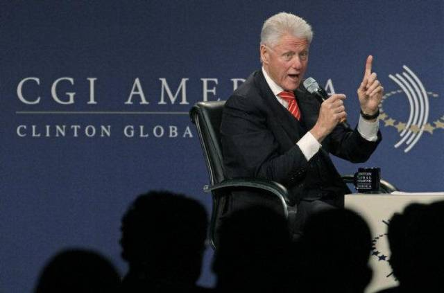 Former President Bill Clinton, presides over the of The Clinton Global Initiative America meeting, Wednesday, June 29, 2011, in Chicago. More than 700 leaders from businesses, nonprofit, and all levels of government are participating in the the two-day meeting which is focusing exclusively on driving job creation and economic growth in the United States. (AP Photo/M. Spencer Green) ORG XMIT: ILMG102