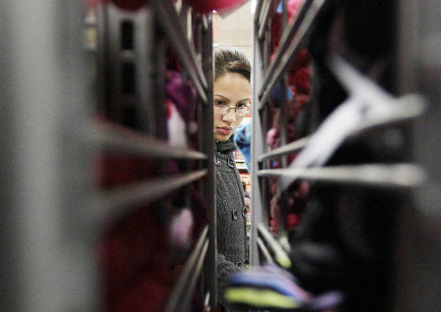 A customer shops at a Kmart in Chicago.  AP Photo