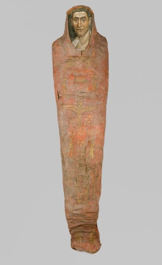 """Mummy of Demetrios"" (Egypt, from Hawara. Roman Period. 95-100 C.E.)"