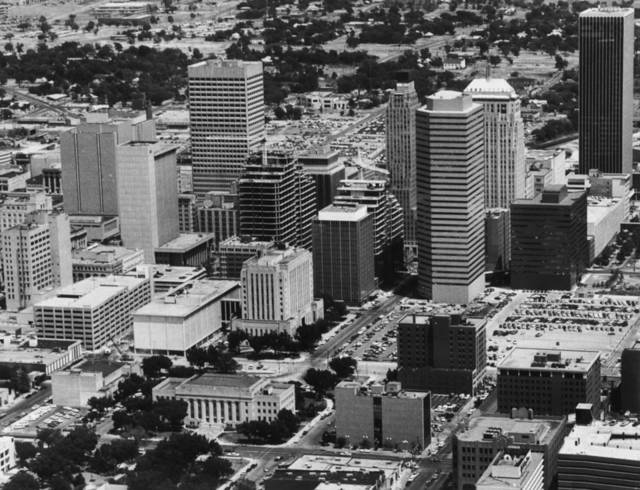 OKLAHOMA CITY / SKYLINE / AERIAL VIEW:  Aerial view of Oklahoma City.  Staff photo by Al McLaughlin.  Staff photo dated Aug 2, 1983.